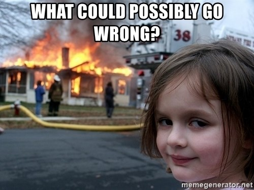 Disaster Girl - what could possibly go wrong?