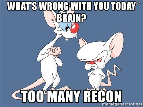 Pinky And The Brain - What's wrong with you today Brain? Too Many Recon