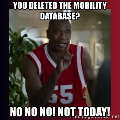 Dikembe Mutombo - You deleted the mobility database? No No No! Not today!