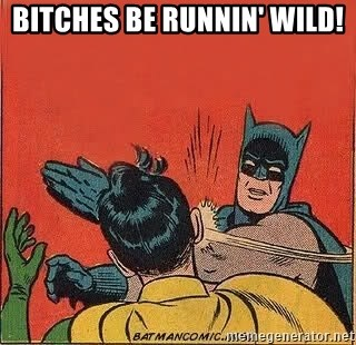 batman slap robin - BITCHES BE RUNNIN' WILD!