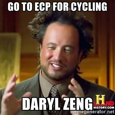 ancient alien guy - go to ecp for cycling daryl zeng
