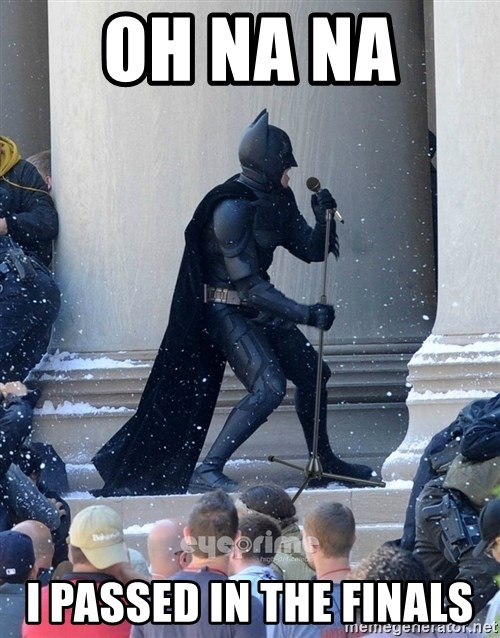 Batman Dance Party - OH NA NA  I PASSED IN THE FINALS