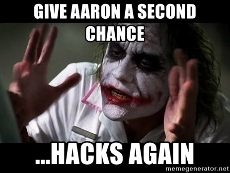joker mind loss - GIVE aaron a second chance ...hacks again