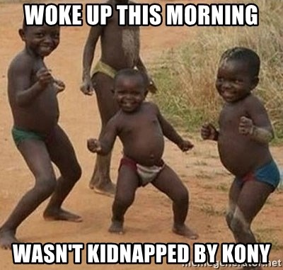 Dancing African Kid - woke up this morning wasn't kidnapped by kony