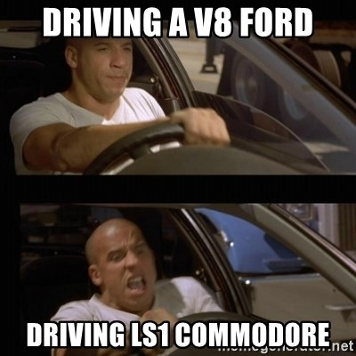 Vin Diesel Car - DRIVING A V8 FORD DRIVING LS1 COMMODORE