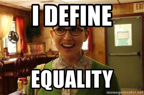 Sexually Oblivious Girl - I define Equality