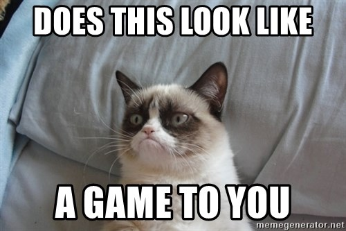 Grumpy cat good - Does this look like a game to you