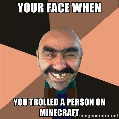 minecraft_dyshanbe - Your Face When You Trolled A Person On Minecraft