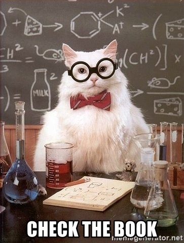 Chemistry Cat -  CHECK THE BOOK