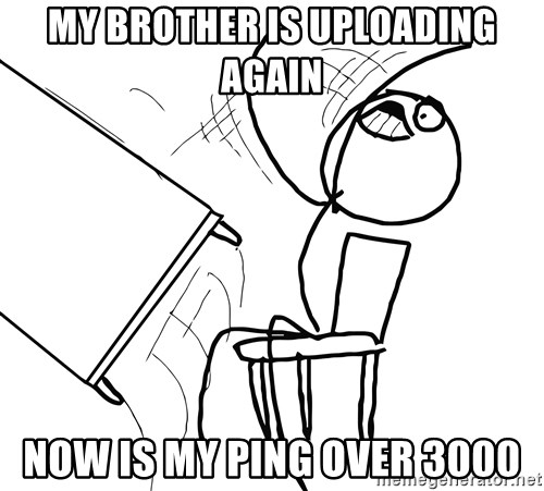 Desk Flip Rage Guy - my brother is uploading again NOW IS MY PING OVER 3000