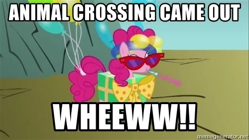 pinkie pie dragonshy - Animal Crossing came out WHEEWW!!
