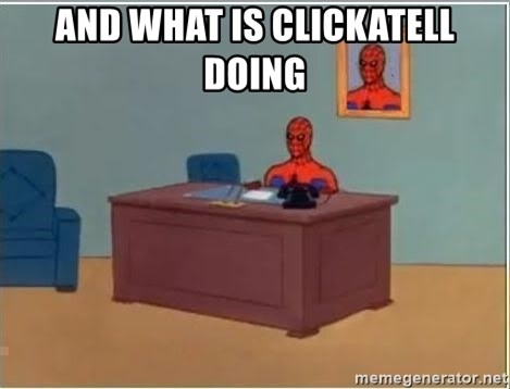 Spiderman Desk - And What is Clickatell doing