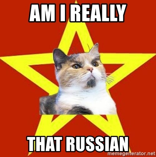 Lenin Cat Red - AM I REALLY THAT RUSSIAN