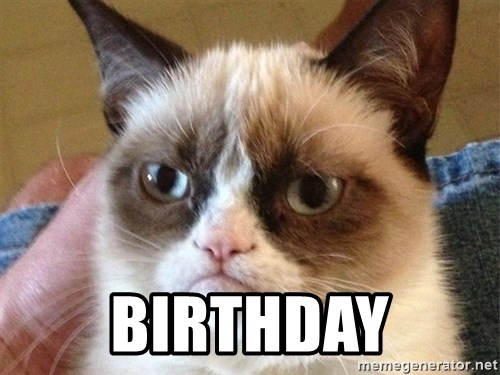 Angry Cat Meme -  Birthday