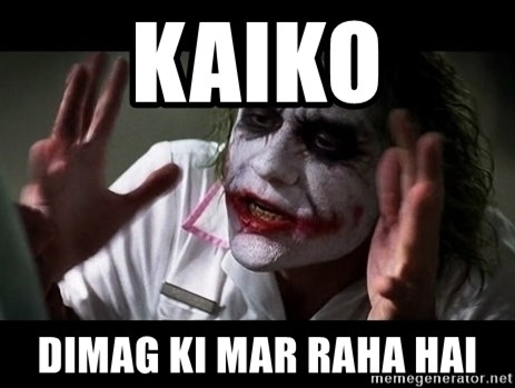 joker mind loss - kaiko dimag ki mar raha hai