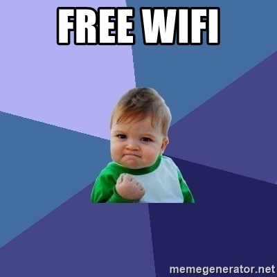 Success Kid - Free wifi