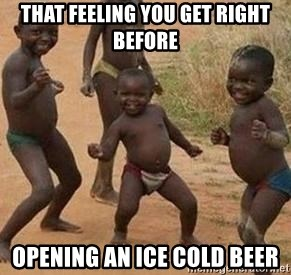 african children dancing - that feeling you get right before opening an ice cold beer