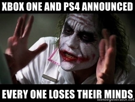 joker mind loss - Xbox ONE and PS4 announced every one loses their minds