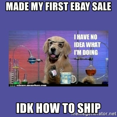 I don't know what i'm doing! dog - MADE my first ebay sale idk how to ship