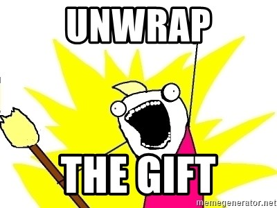 X ALL THE THINGS - UNWRAP the gift