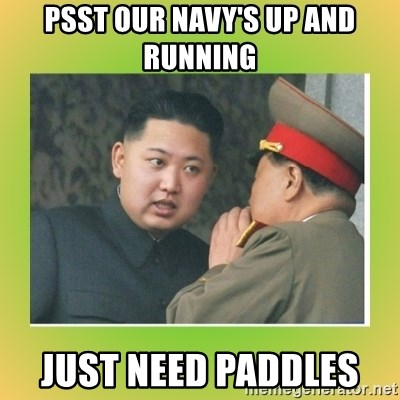kim joung - PSST OUR NAVY'S UP AND RUNNING  JUST NEED PADDLES