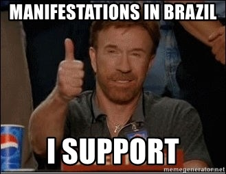 Chuck Norris Approves - Manifestations in Brazil I Support