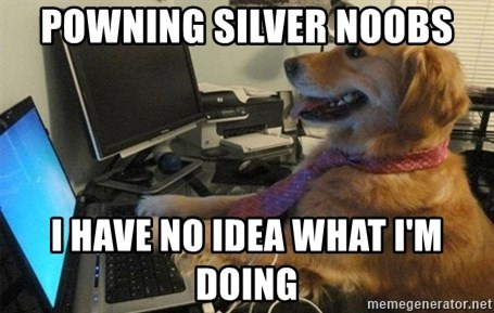 I have no idea what I'm doing - Dog with Tie - Powning silver noobs I have no idea what I'm doing