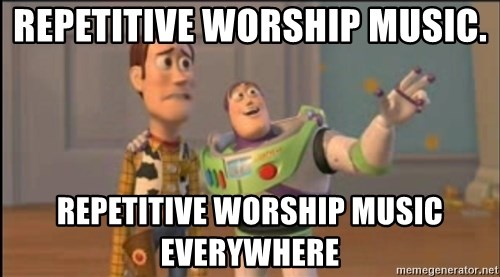 X, X Everywhere  - repetitive worship music. repetitive worship music everywhere