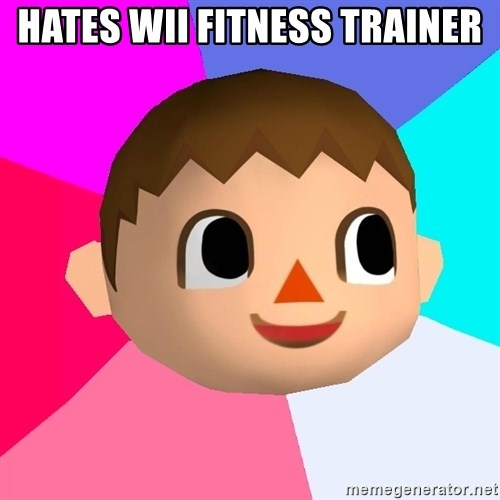 Animal Crossing - Hates wii fitness trainer