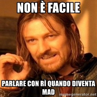 One Does Not Simply - NON è FACILE PARLARE CON Rì QUANDO DIVENTA MAD