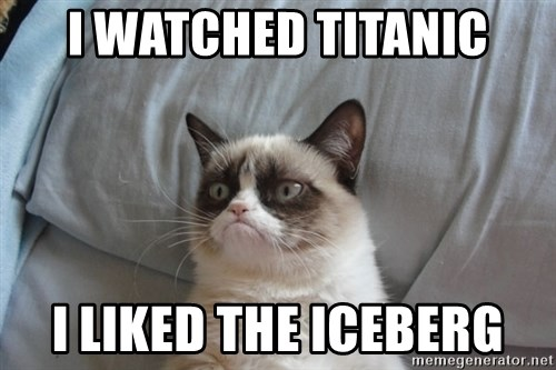 Grumpy cat good - I WATCHED TITANIC I LIKED THE ICEBERG