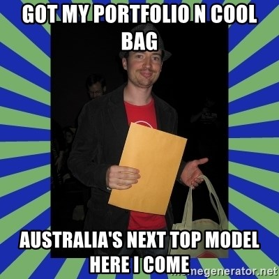 Swag fag chad costen - GOT MY PORTFOLIO N COOL BAG AUSTRALIA'S NEXT TOP MODEL HERE I COME