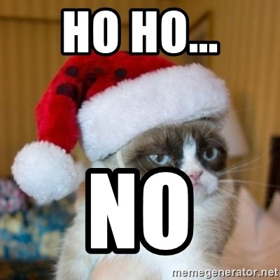 Grumpy Cat Santa Hat - ho ho... no