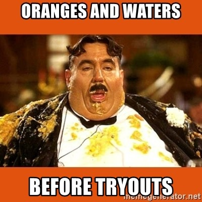 Fat Guy - ORANGES AND WATERS BEFORE TRYOUTS