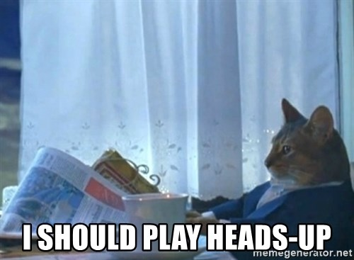 Sophisticated Cat -  I should play heads-up