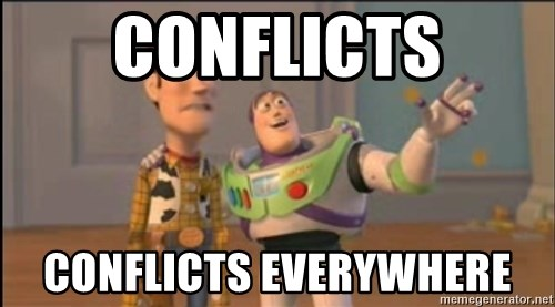 X, X Everywhere  - Conflicts Conflicts Everywhere