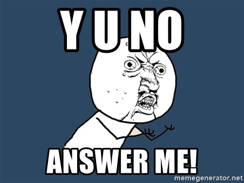 Y U No - Y U No Answer me!