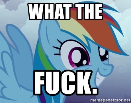 rainbow dash excited - What the Fuck.