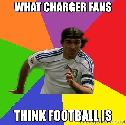 typical.russian.footballer - what charger fans think football is