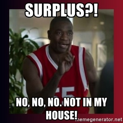 Dikembe Mutombo - Surplus?! NO, NO, No. Not in my house!