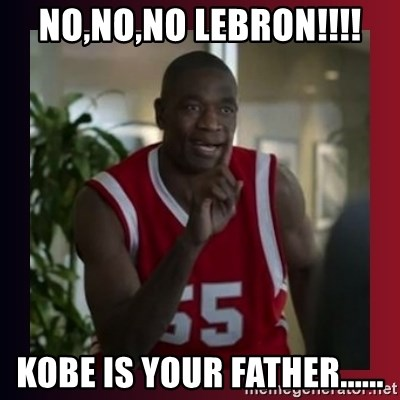 Dikembe Mutombo - NO,NO,NO LEBRON!!!! KOBE IS YOUR FATHER......