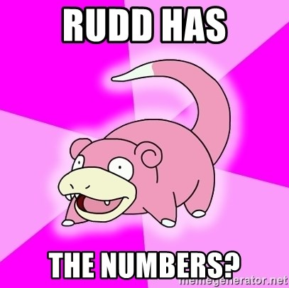 Slowpoke - Rudd has The numbers?