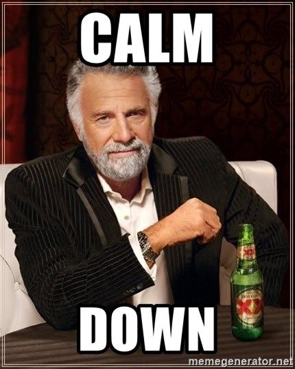 The Most Interesting Man In The World - calm down