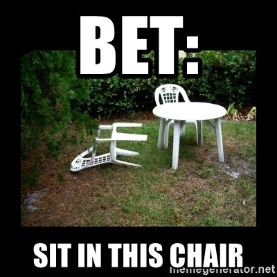 Lawn Chair Blown Over - bet: sit in this chair