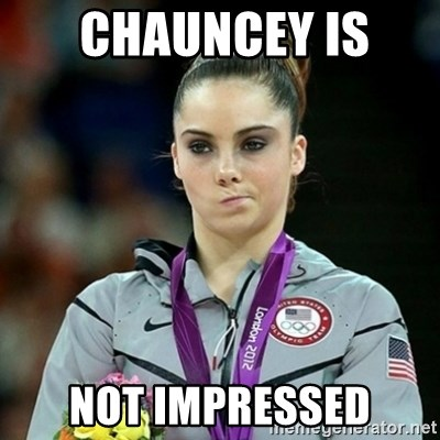 Not Impressed McKayla -  chauncey is  not impressed