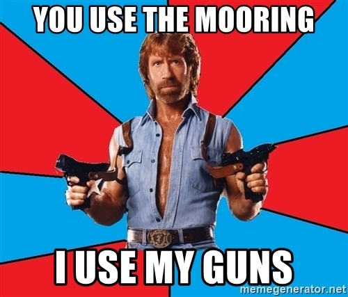 Chuck Norris  - you use the mooring I use my guns