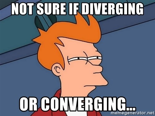 Futurama Fry - Not sure if diverging or converging...