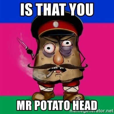 malorushka-kuban - IS THAT YOU  MR POTATO HEAD