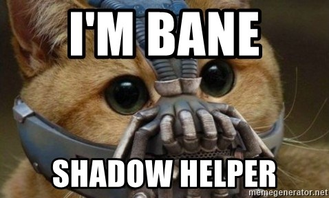 bane cat - I'M BANE  SHADOW HELPER
