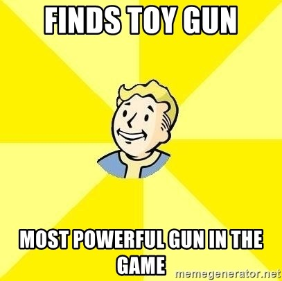 Fallout 3 - Finds toy gun Most powerful gun in the game